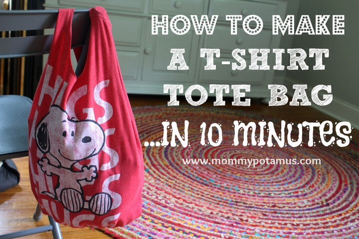 Supplies Old t-shirt – The thicker the fabric, the sturdier the bag Sharp scissors Washable marker (optional)