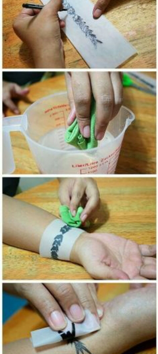 HOW TO CREATe TEMPORARY TATTOO (rock with it) by Sanah Malik - Musely