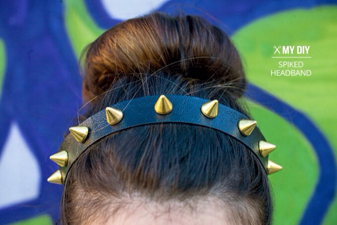 Supplies Faux leather Spikes with Screw  E600 Glue Hair elastic