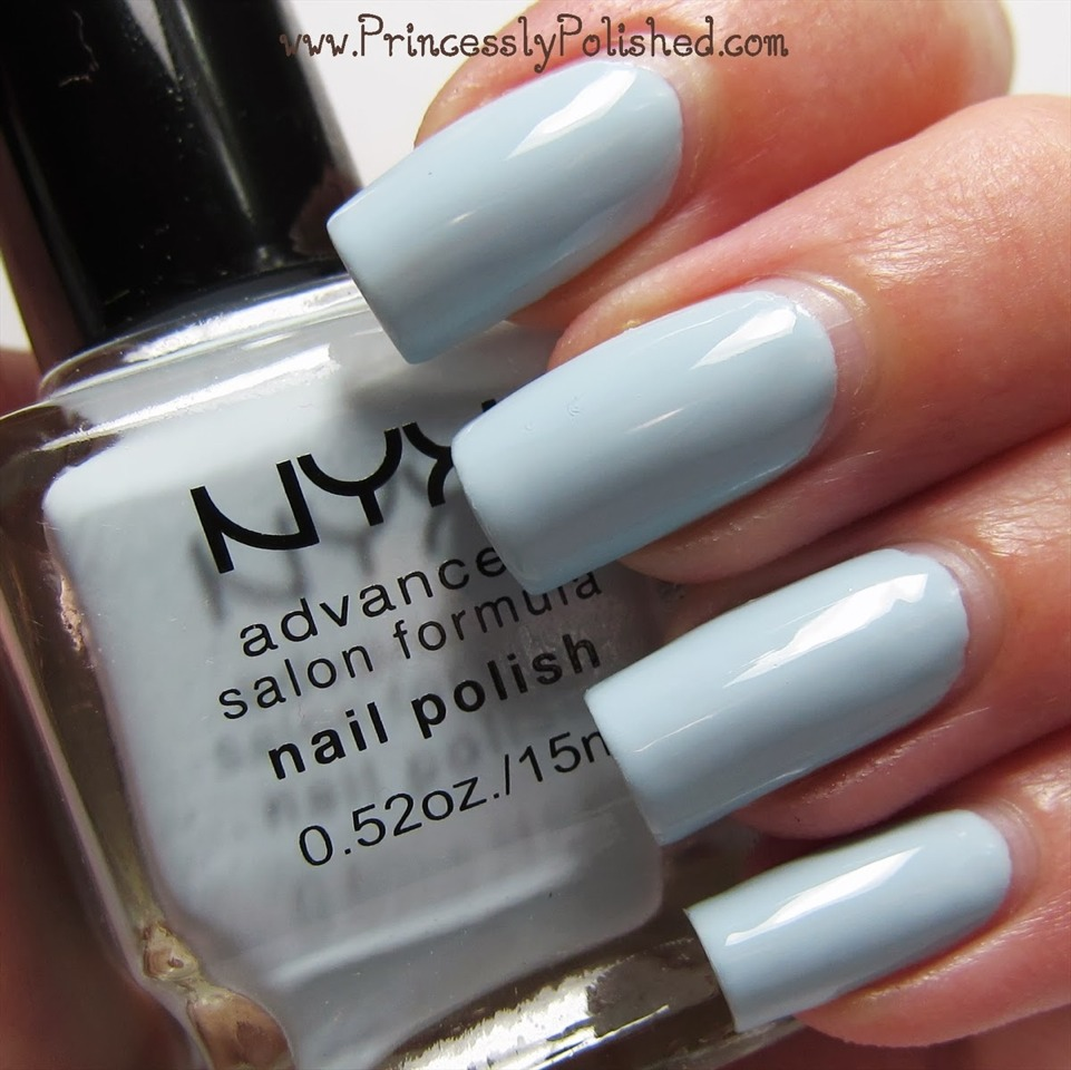 Pastel blue looks gorgeous in summer. It reminds me of the blue skies and beautiful ocean.