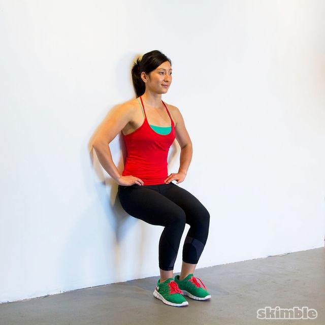 2 minute wall sit