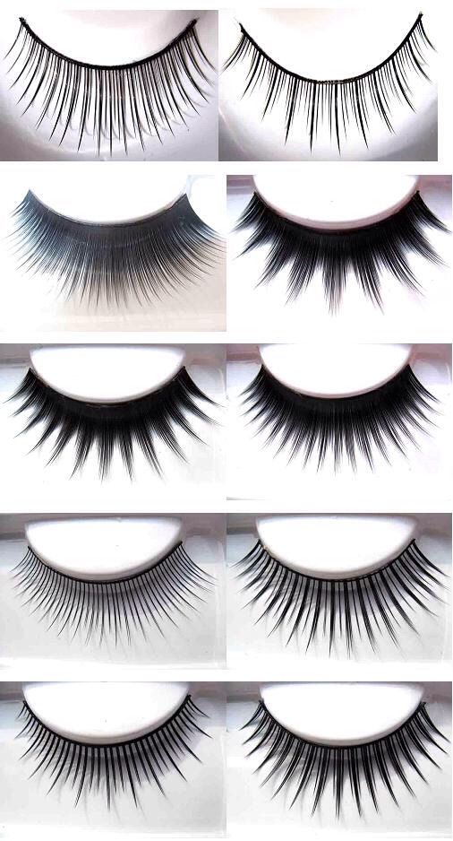 Wait 20 secs for the glue to dry a bit on the false eyelashes before putting them on. Never put them on right when you apply the glue and it's still wet. Use tweezers to lay the middle part of the lash on your lid first, and with closed tweezers, press the lashes down on the outer parts of your lid.