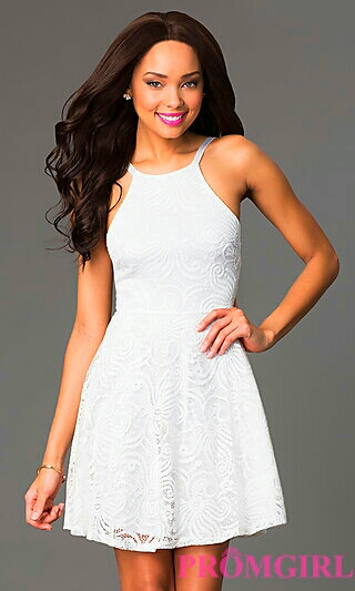 Scooped White Dress