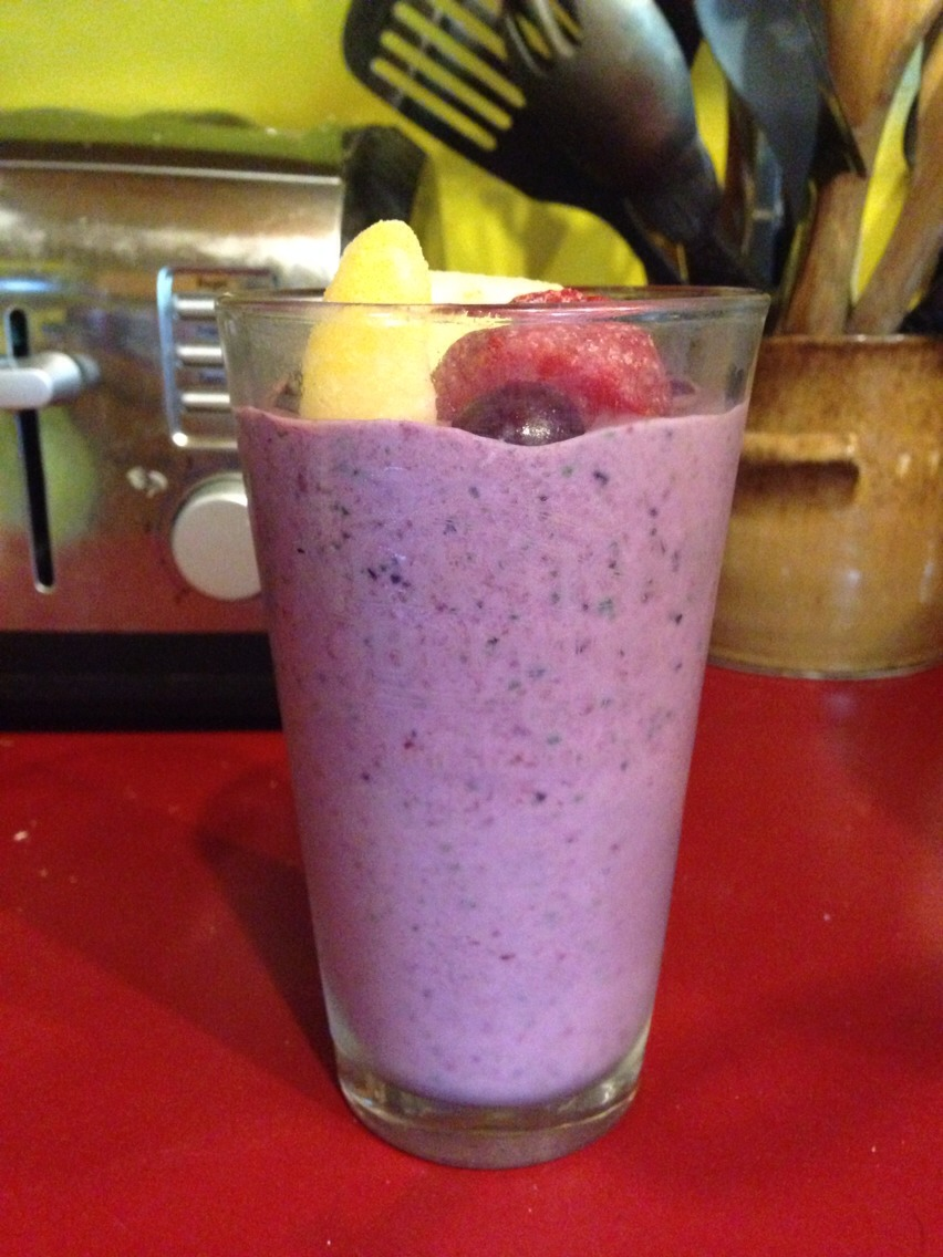 I made this smoothie for myself this morning and found it a delicious way to sneak vegetables into your daily meals.