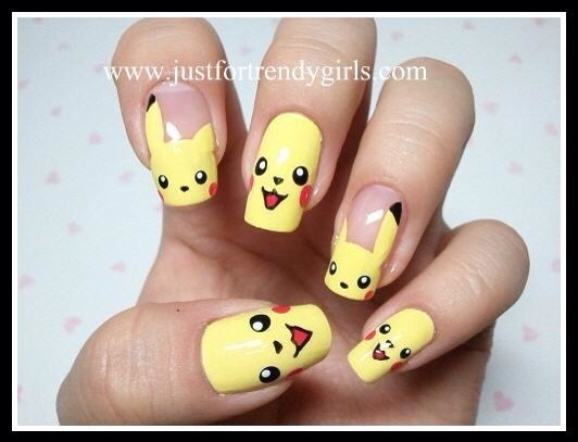 U need  White, yellow, red and black nail polish!! Add the yellow for the base colour!then add in outline of the eyes and mouth with black and add in the white and red!!!