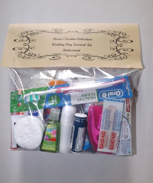 Cute little kit for the day of wedding like a survival kit