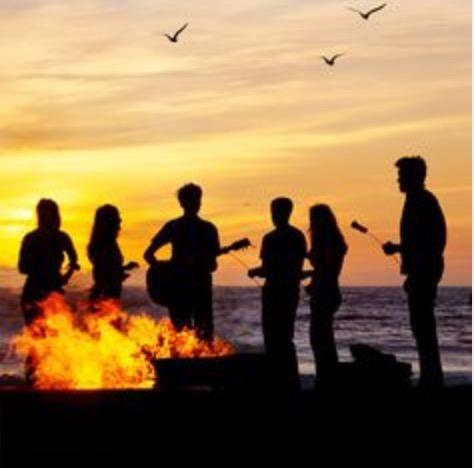 2. Have a bonfire with your friends! Whether it's the fire pit in your backyard, or a spot at your local camp ground, camp fires are a great way to celebrate autumn. Bonus points if you make s'mores!