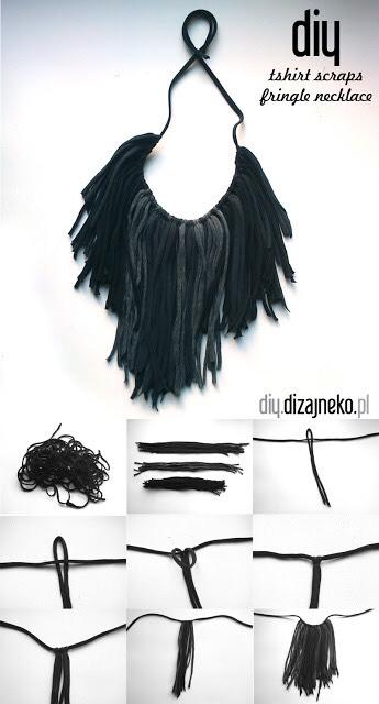 14. Fringe tshirt necklace