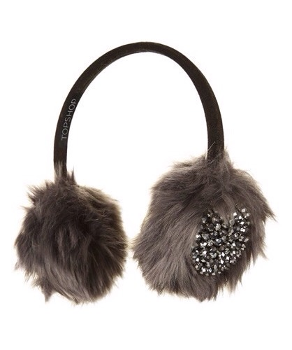 7. Earmuffs get the fancy treatment with these Topshop Embellished Faux Fur Earmuffs.