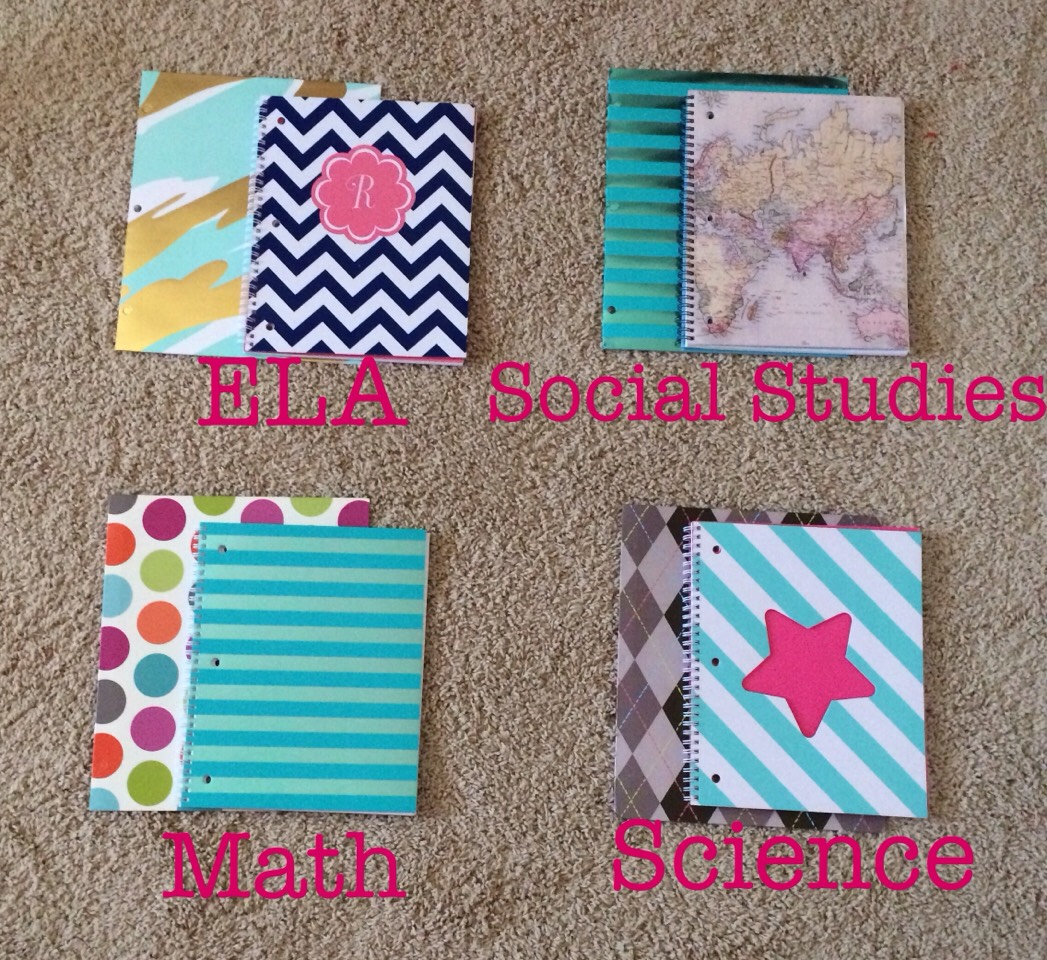 •6• Have one notebook and folder for each subject, like so: ^