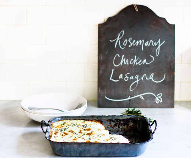 you still have time to run to the store and whip up this easy recipe of Rosemary Chicken Lasagna.