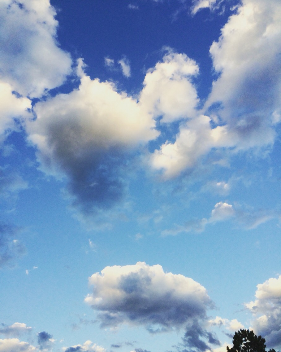 Clouds! Is this just me or is it normal to take photos of sky cotton?! (Sky cotton=clouds) ☁️