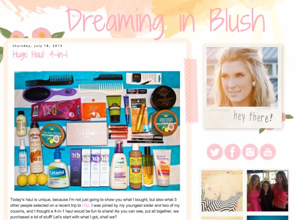 "1️⃣4️⃣Dreaming in Blush: ""creator, Elle Fowler went from making YouTube tutorials to founding a cosmetics company."" She ""is well-versed in the beauty industry, and her blog reflects that. Complete with beauty hauls, how-tos, and sale alerts, Dreaming in Blush is well worth a bookmark."""