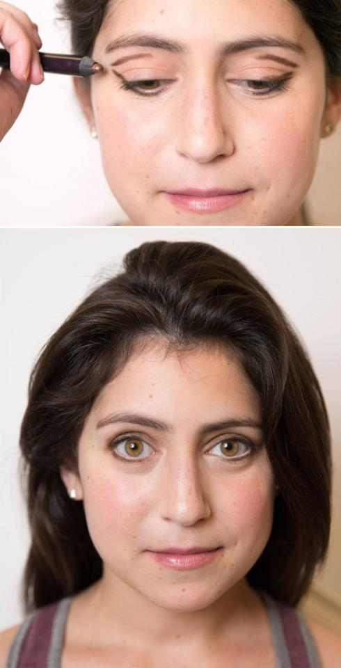 "4. Make close-set eyes appear farther apart with a ""V""-shaped smoky eye. (Hint: You have close-set eyes if the distance between your eyes is shorter than the width of one of your eyes.)"