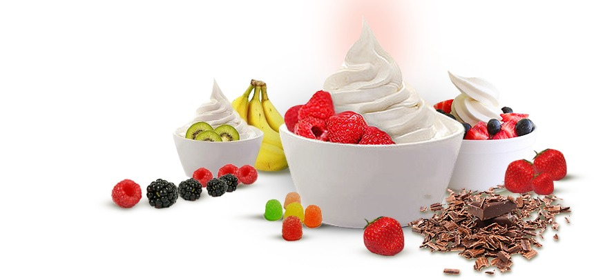 All the things you will need -different fruit -ice cream -ice cubes -a blender Get you blender then put all the fruit ice cream and ice cubes into the blender then mix it up and you should have your frozen yogurt