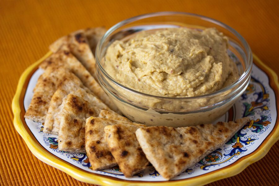 Hummus Chickpeas are not only full of nutrients but eating hummus during your period can result in a good night's sleep and uplift your mood.