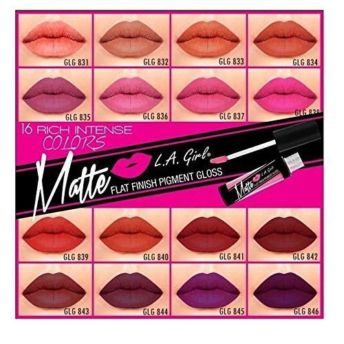 La Girl Matte Pigment Gloss  $4