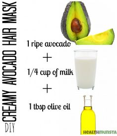 Go avacray cray! 1 small ripe avacado 1 tablespoon olive or almond oil 1/4 cup milk Blend avacado until smooth now add rest ingredients and whisk. Apply to scalp, put on shower cap; wait 15 mins and rinse.