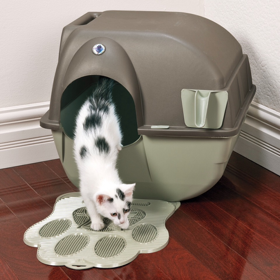 easy clean cat litter tray mat