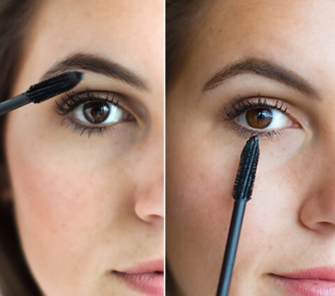 6. Hold the brush at a horizontal angle if you want thick lashes, or turn it vertically for a more natural finish.