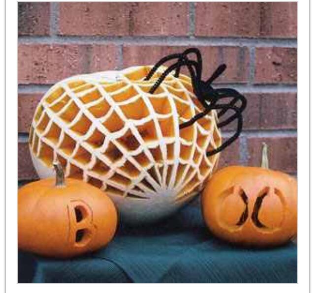 Spider & web pumpkin