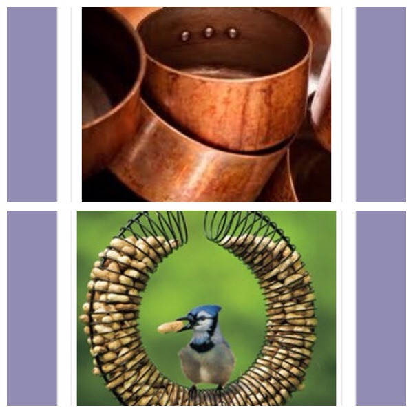 21. Use ketchup to remove the tarnish from copper pans. Slather the pan with ketchup and leave for 30 minutes for the acid to break down the tarnish then rinse clean and and buff with a soft cloth  22. Repurpose an unwanted slinky to create a pretty bird feeder
