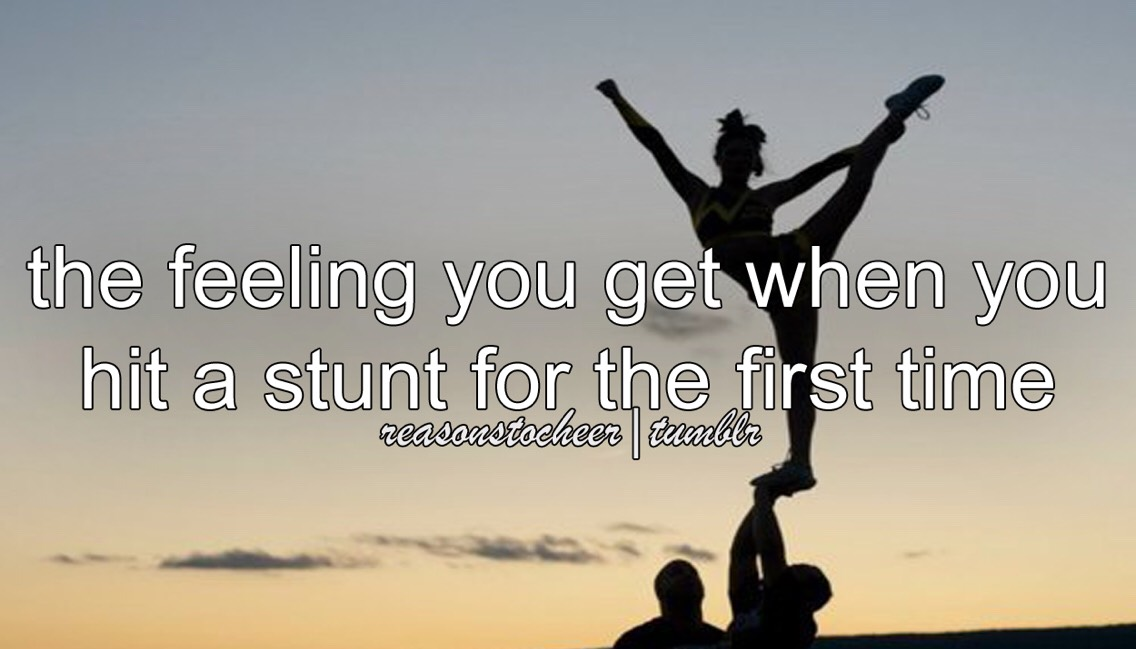 i remember when i hit my first elite stunt sequence. i was 9 at the time it was a full up to immediate stretch, heel stretch -> bow and arrow, full down.  when i got done i started like freaking out and i got this adrenaline rush to do it over and over. and it was the best feeling ever.