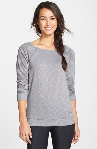 A Crew Neck Sweatshirt An ideal option for a cozy night with roommates or layered with a chambray shirt for class.