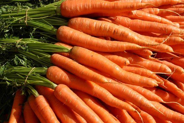 11- Carrots  Carrots are full of beta carotene, which absorbes harmful sun rays. Eating carrots will give your skin the healthy glow you long for.
