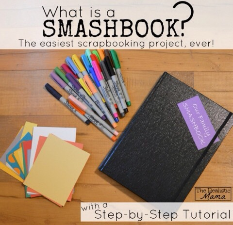 Smash book tutorial http://www.therealisticmama.com/smash-book/