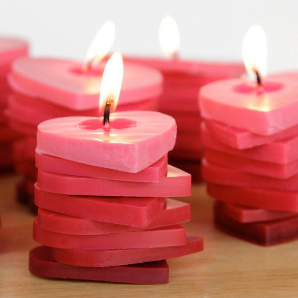 26. These stacked ombre heart candles.  http://www.handsoccupied.com/2014/02/stacked-ombre-heart-candles/