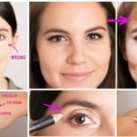 Use concealor two tone lighter under eyebrow to give and uplifted eyebrow look