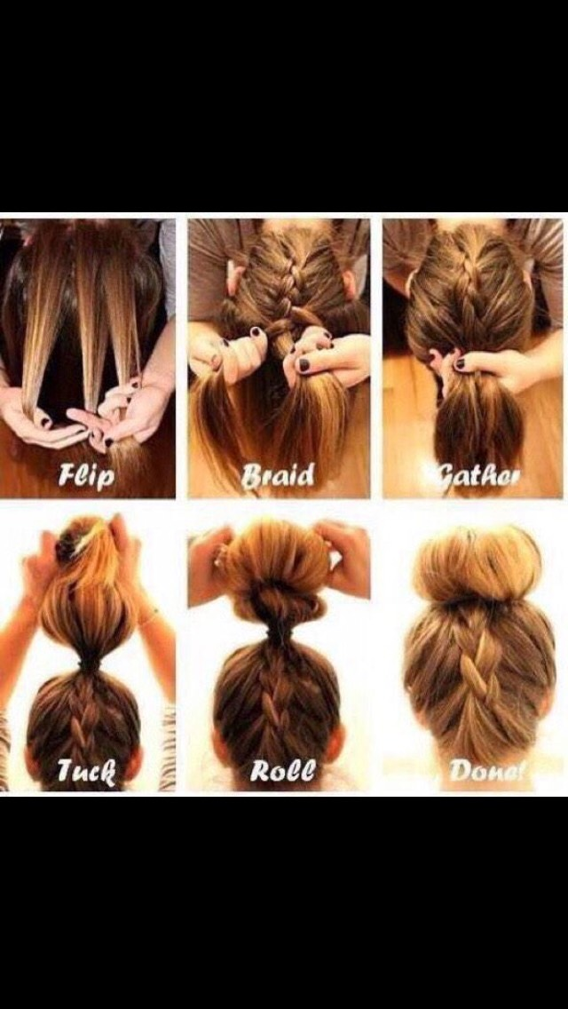 Quick and easy hair style !