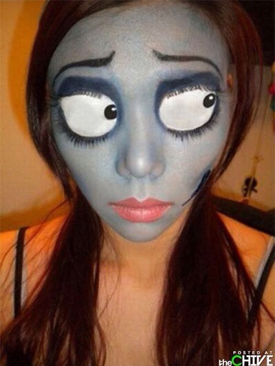 The corpse bride Emily   Here are two YouTube tutorials:  http://youtu.be/HqVA7_qSfNE  http://youtu.be/-s4nV3ZNPJM