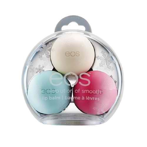 Regular chap stick or EOS is awesome for stocking stuffers! Any holiday chap stick set is great!