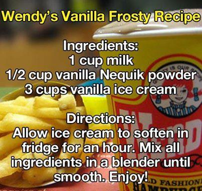 Use chocolate powder for a chocolate frosty