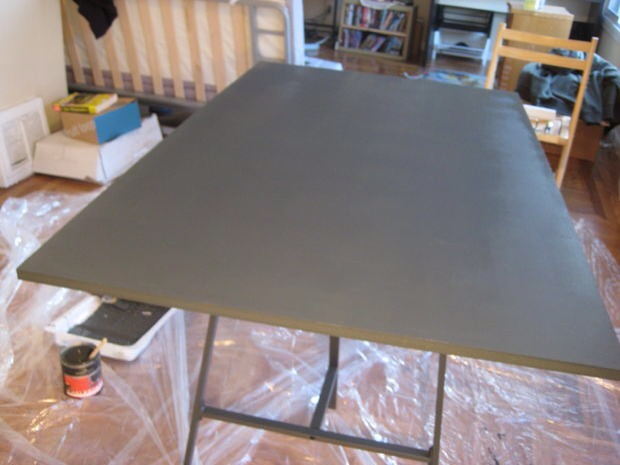 Place a second coat and let dry again.  It should look pretty good at this point.