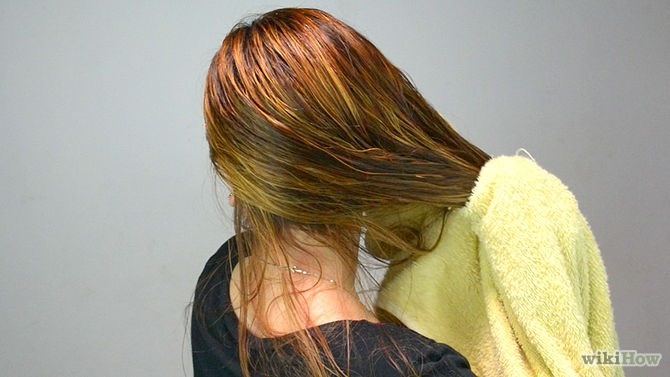 Don't dry your hair with a regular towel, instead use a microfiber towel or a t-shirt.