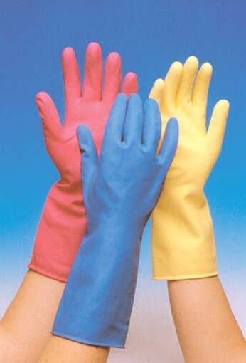 Remove pet hair easily from suede furniture by wearing and dampening a rubber glove and gliding it over the pet hair.