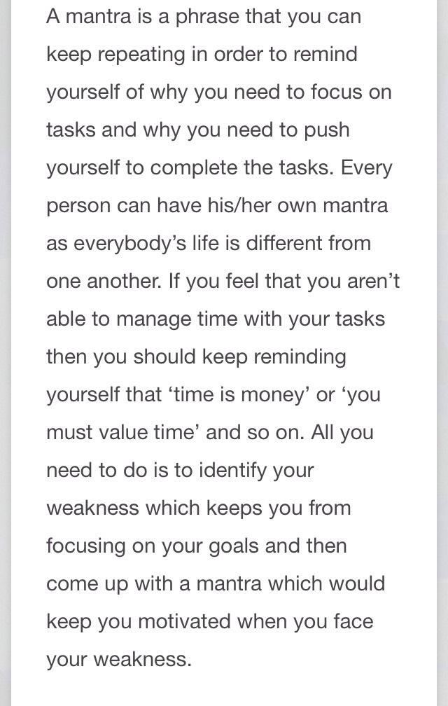 Identify your Mantra: