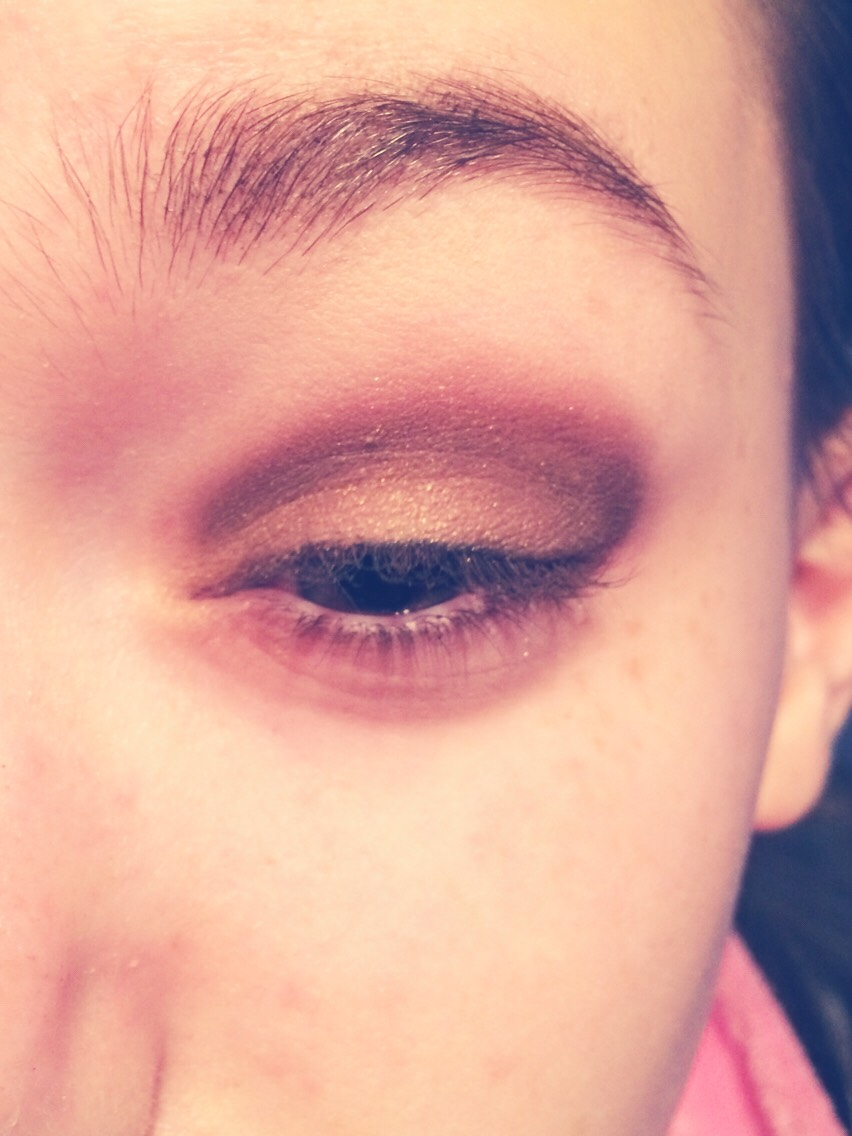 Add sparkly shade over lid and blend into crease