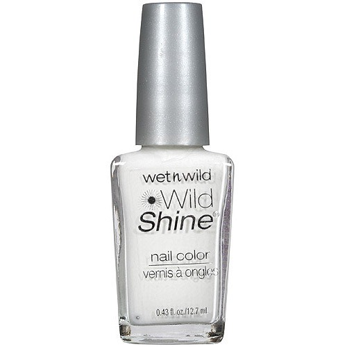 Then for your second color you will need a white! I used wet n wilds creme white nail polish!!
