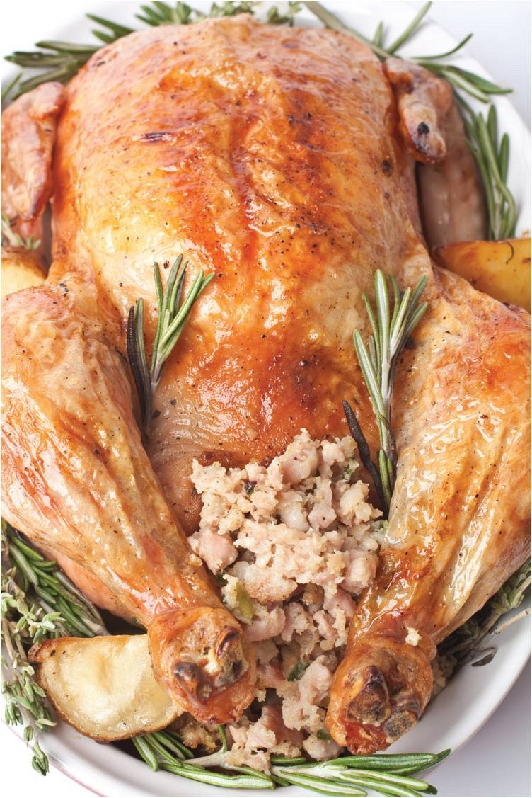 Don't stuff your turkey with your stuffing. Juice from the raw turkey can seep into the stuffing, and your turkey may not cook right