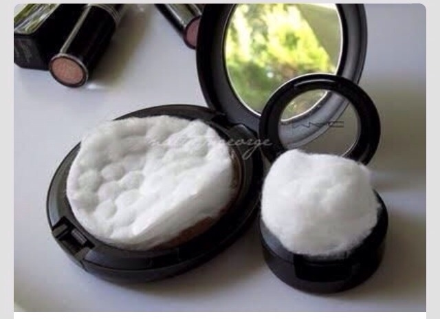 Add a cotton ball or cotton pad to your makeup to keep them from breaking when traveling.