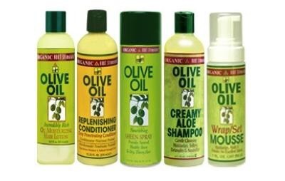 Olive oil, use this along with a hair product as well