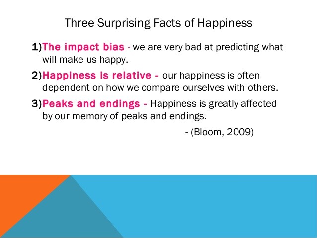 what predicts happiness Happiness: the science of subjective well to conditions so that over time our circumstances may not influence our happiness as much as one might predict they.
