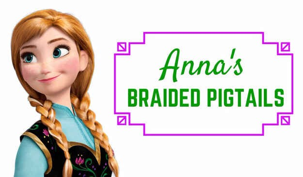 6. To make pigtails way cooler, select two strands at the front and start braiding each one to the back. Cross them to the opposite side and braid the pigtails with the original braids, using them as one of the three strands. We definitely feel some magic going on in here.
