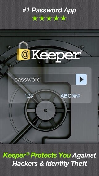 Keeper- all of your passwords and log in information in a secure storage facility