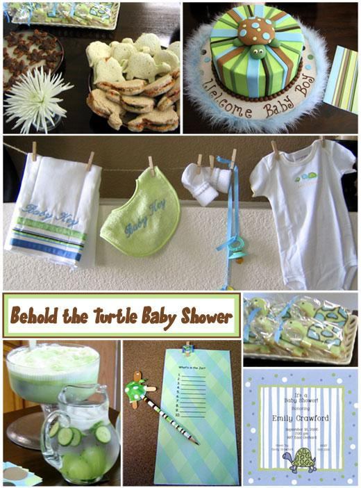 Turtle themed Baby Shower