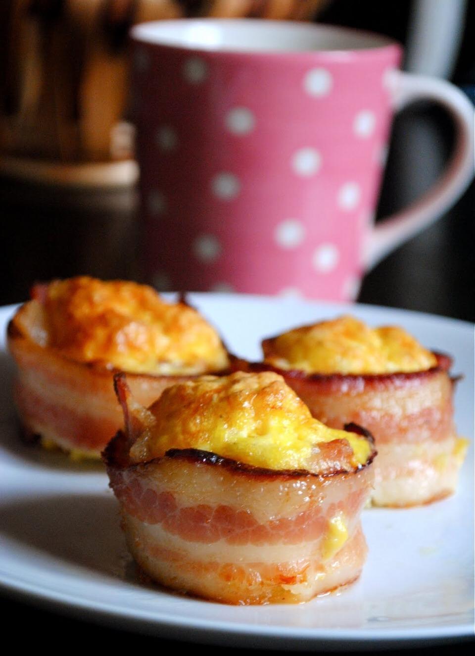 Bacon wrapped egg scramble